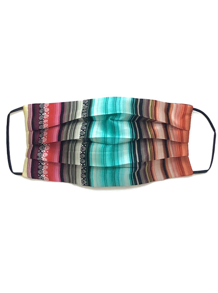 Printed Silk Face Mask + Serape Multi