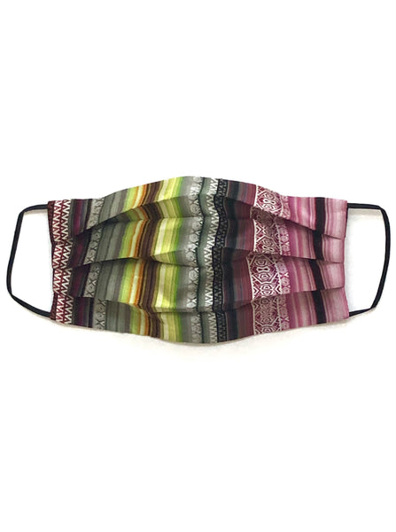 Printed Silk Face Mask + Serape Lime