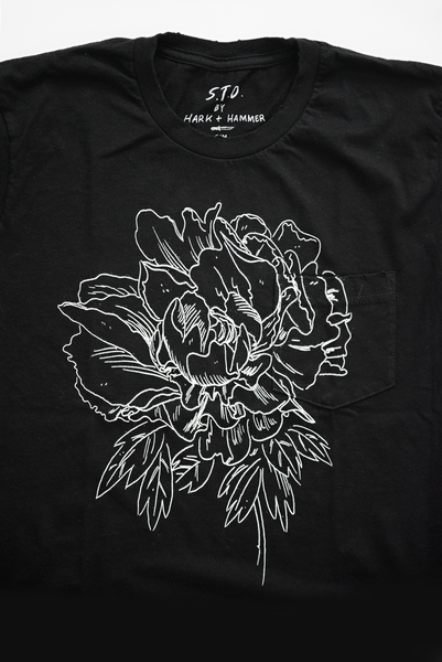 The Peony Shirt in Black
