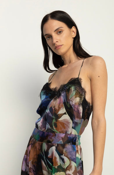 The Silk Cami + Floral Abyss