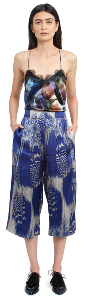 The Silk Culotte + Venom Blue
