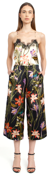 The Silk Culotte + Botanica Black