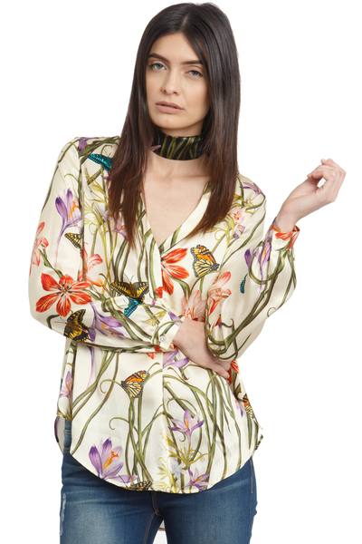 The Silk Blouse + Botanica Ivory