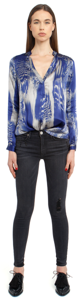 The Silk Blouse + Venom Blue