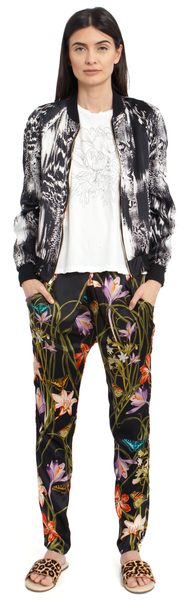 The Silk Jogger Pant + Botanica Black