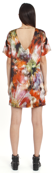 The Silk TShirt Dress + Hothouse Floral