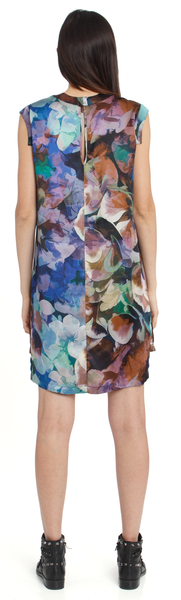 The Silk Leveled Dress + Floral Abyss