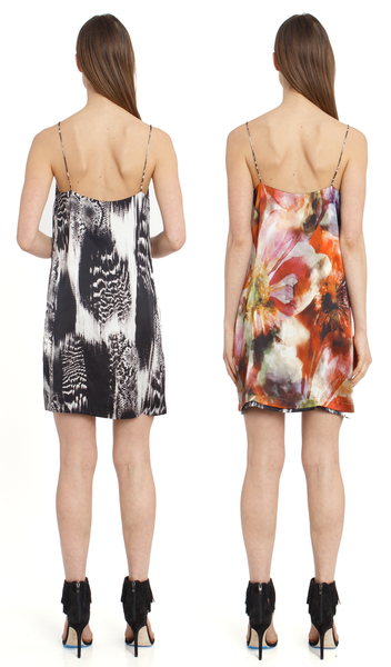 The Reversible Silk Slip + Venom Black/Hothouse Floral