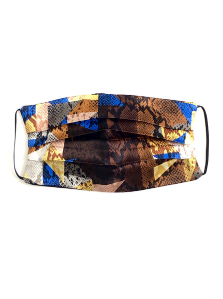 Printed Silk Face Mask + Cobra Kaleidoscope