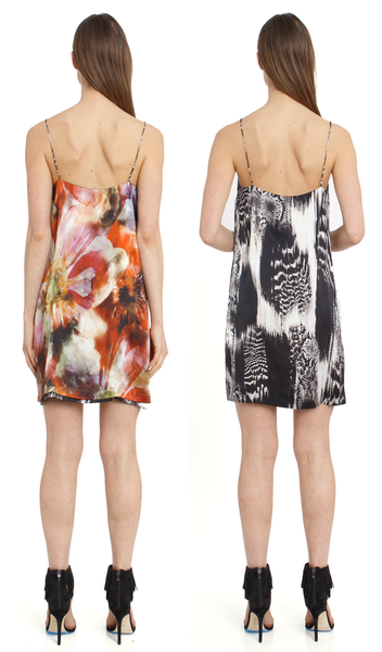 The Reversible Silk Slip + Hothouse Floral/Venom Black