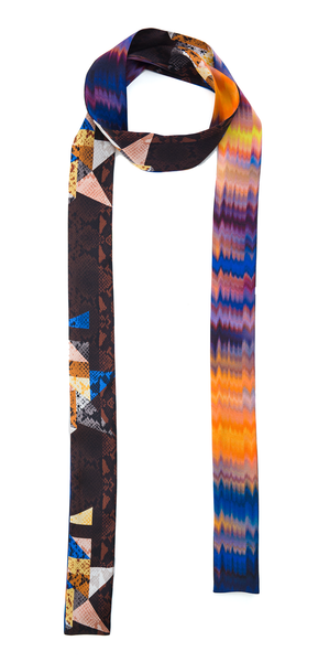 The Reversible Silk Skinny Scarf + Oasis / Cobra Kaleidoscope