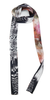 The Reversible Silk Skinny Scarf + Venom Black/Hothouse Floral