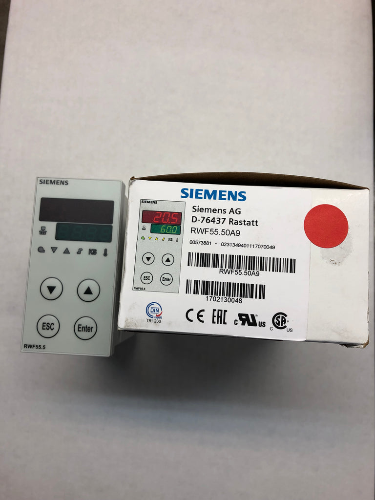Siemens: RWF55.50A9 3 Position Analog Controller- Single Pack