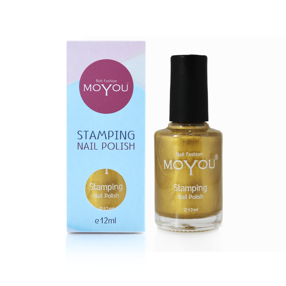 MoYou Nail Fashion Stamping Nail Polish - Gold