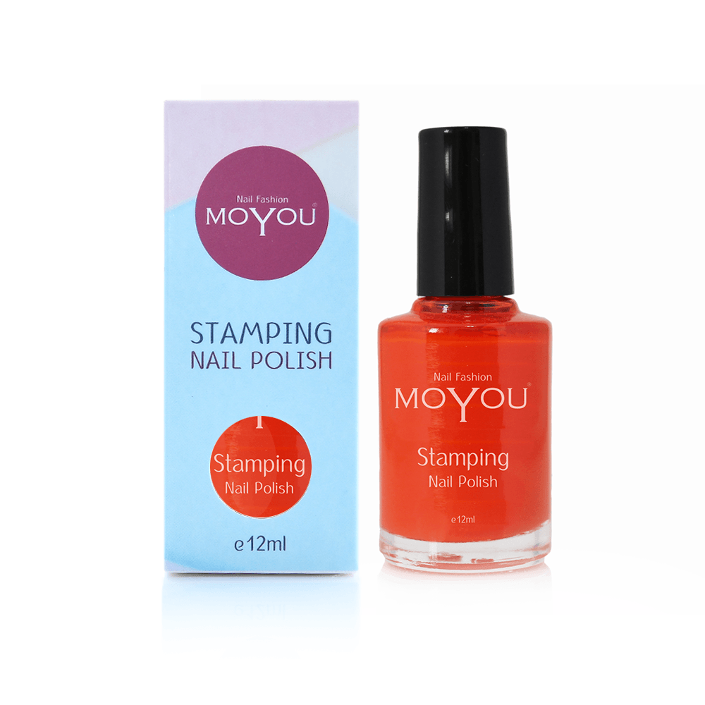 MoYou Nail Fashion Stamping Nail Polish - Red