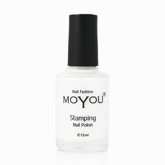 MoYou Nail Fashion Stamping Nail Polish - White