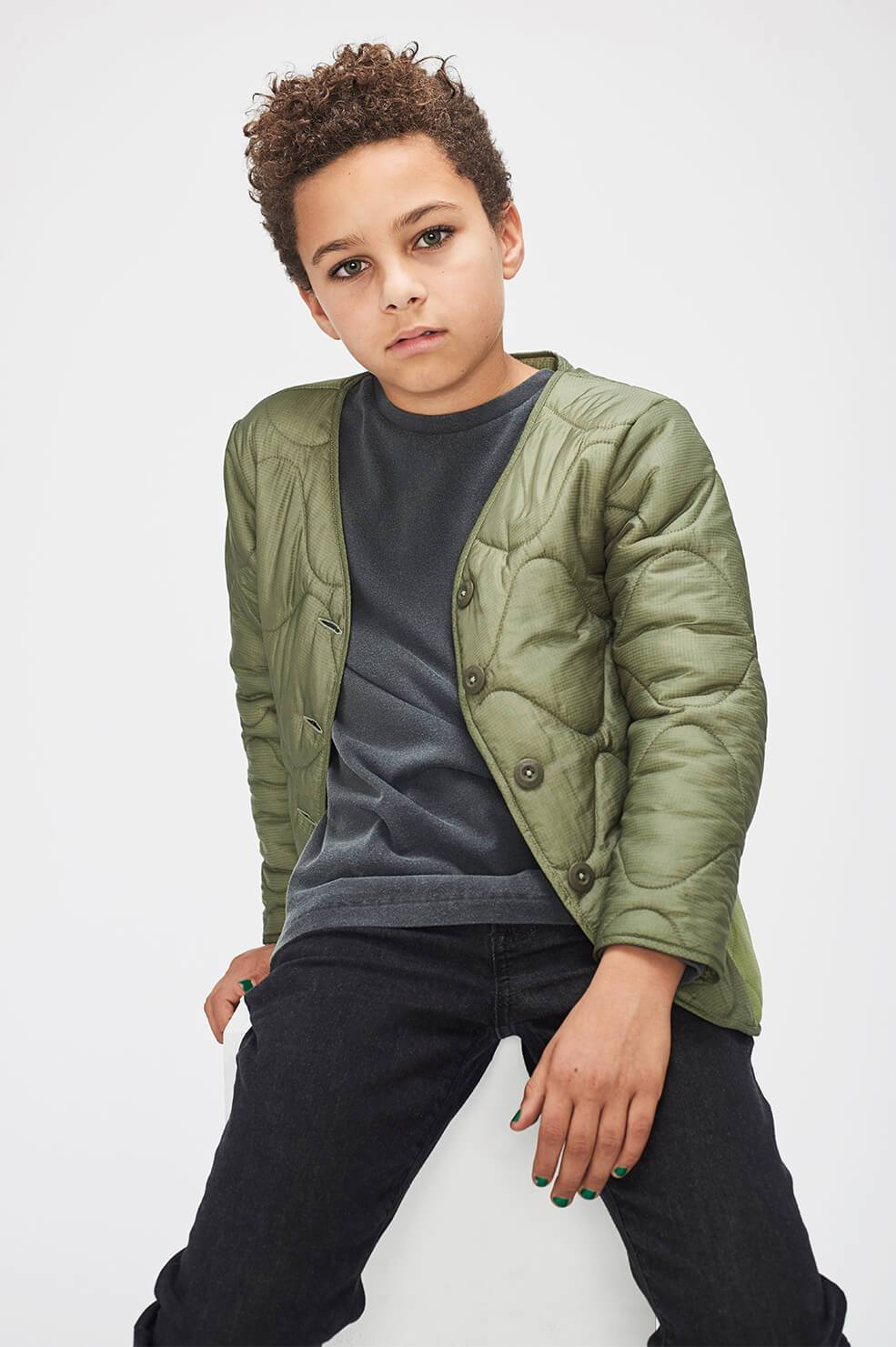 Mini Andy Bomber - Military Green