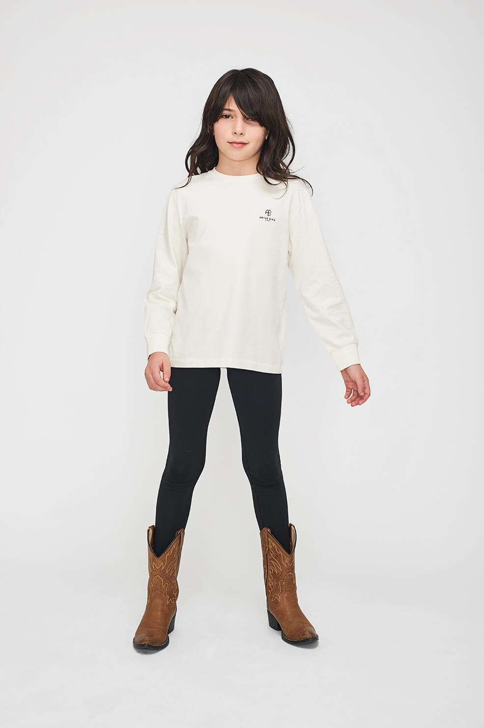 ANINE BING KIDS Mini Willow Tee - Off White