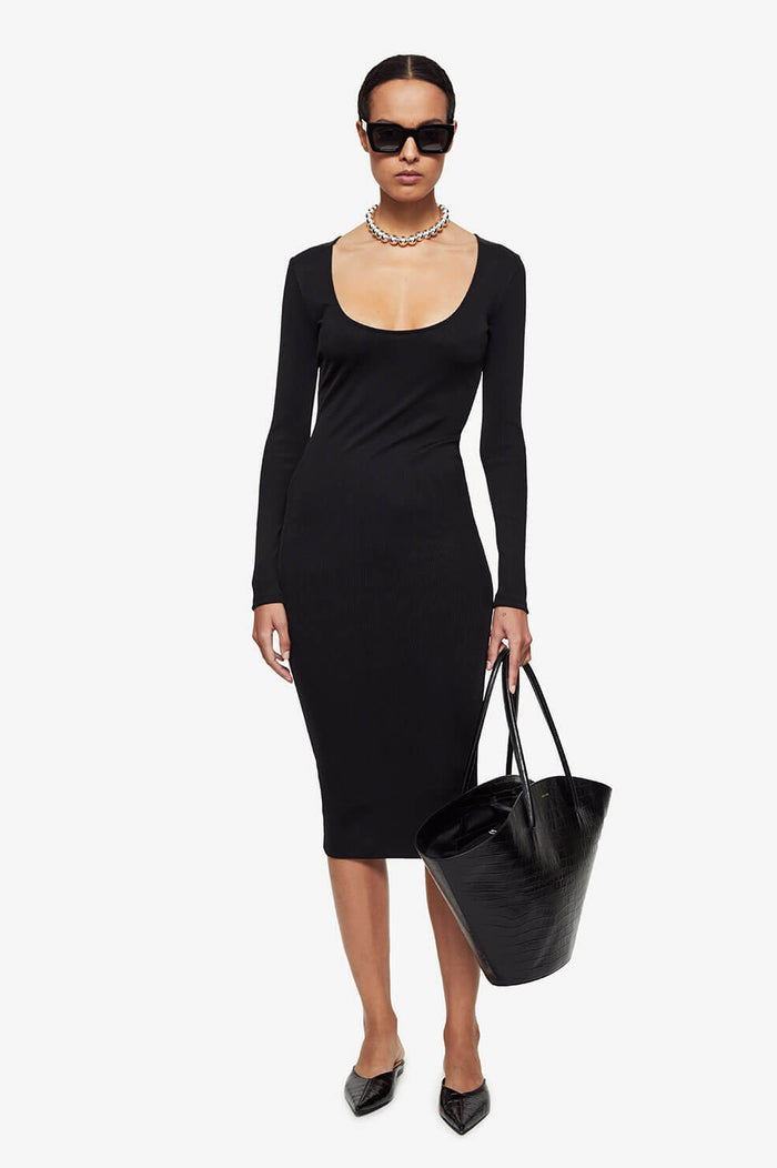ANINE BING Montana Dress - Black