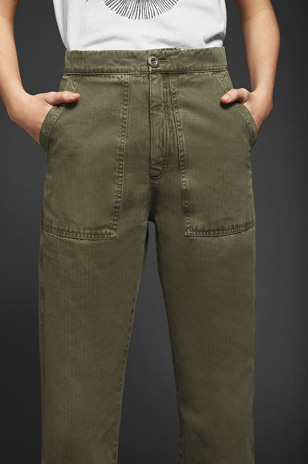 ANINE BING Scout Military Trouser - Military Green