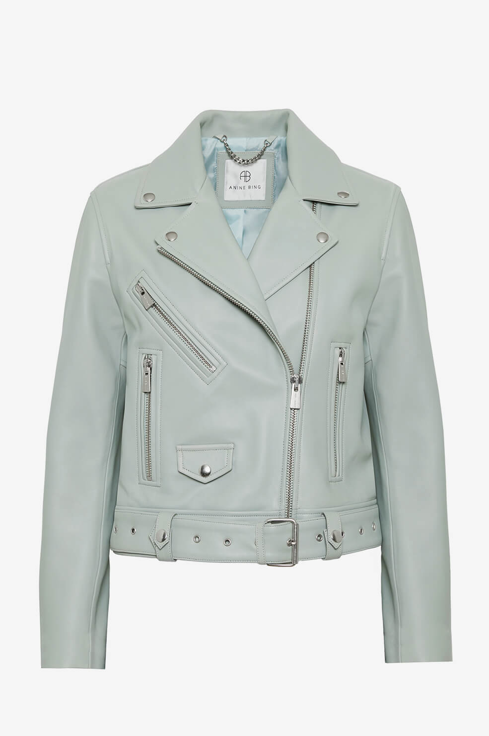 ANINE BING Benjamin Moto Jacket - Dusty Mint