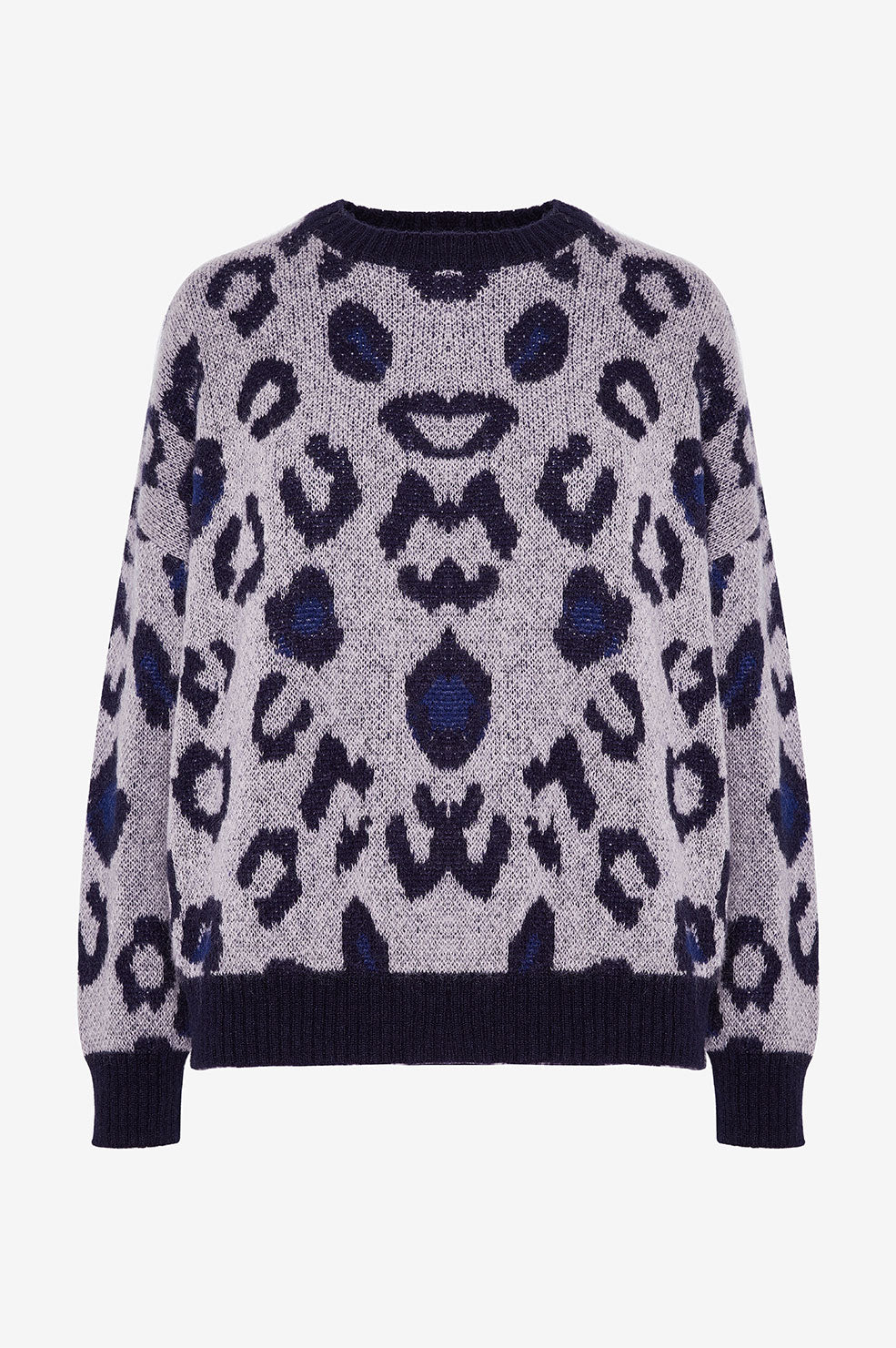ANINE BING Raigh Sweater - Cloudy Blue Leo