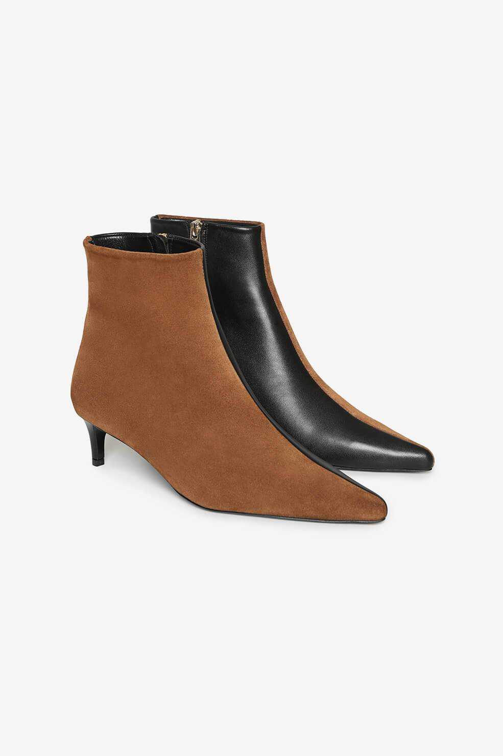 Loren Boots - Cognac And Black