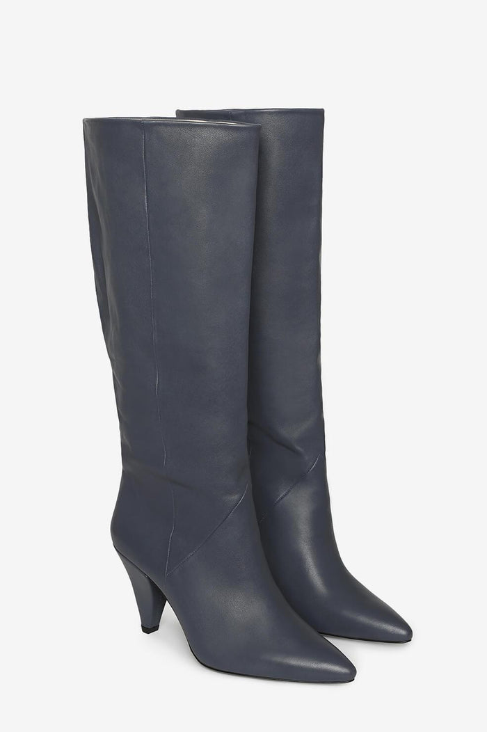 ANINE BING Piper Boots - Dusty Blue