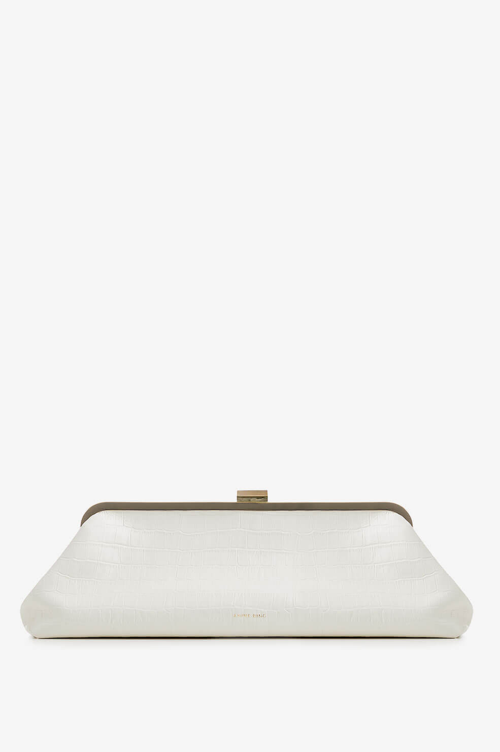 Kiara Clutch - Off White Croco