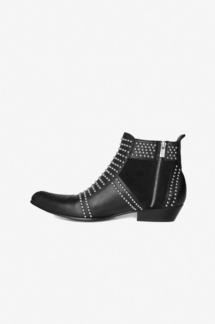 ANINE BING Charlie Boots With Silver Studs