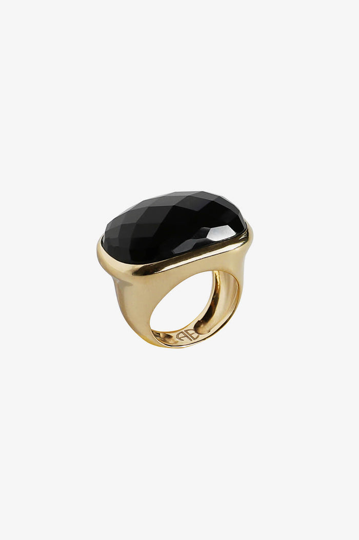 Onyx Ring - Gold