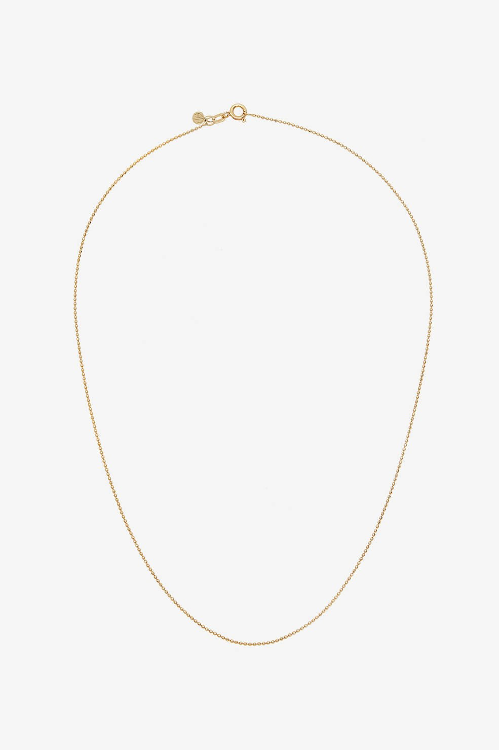 Beaded Chain Necklace - Gold