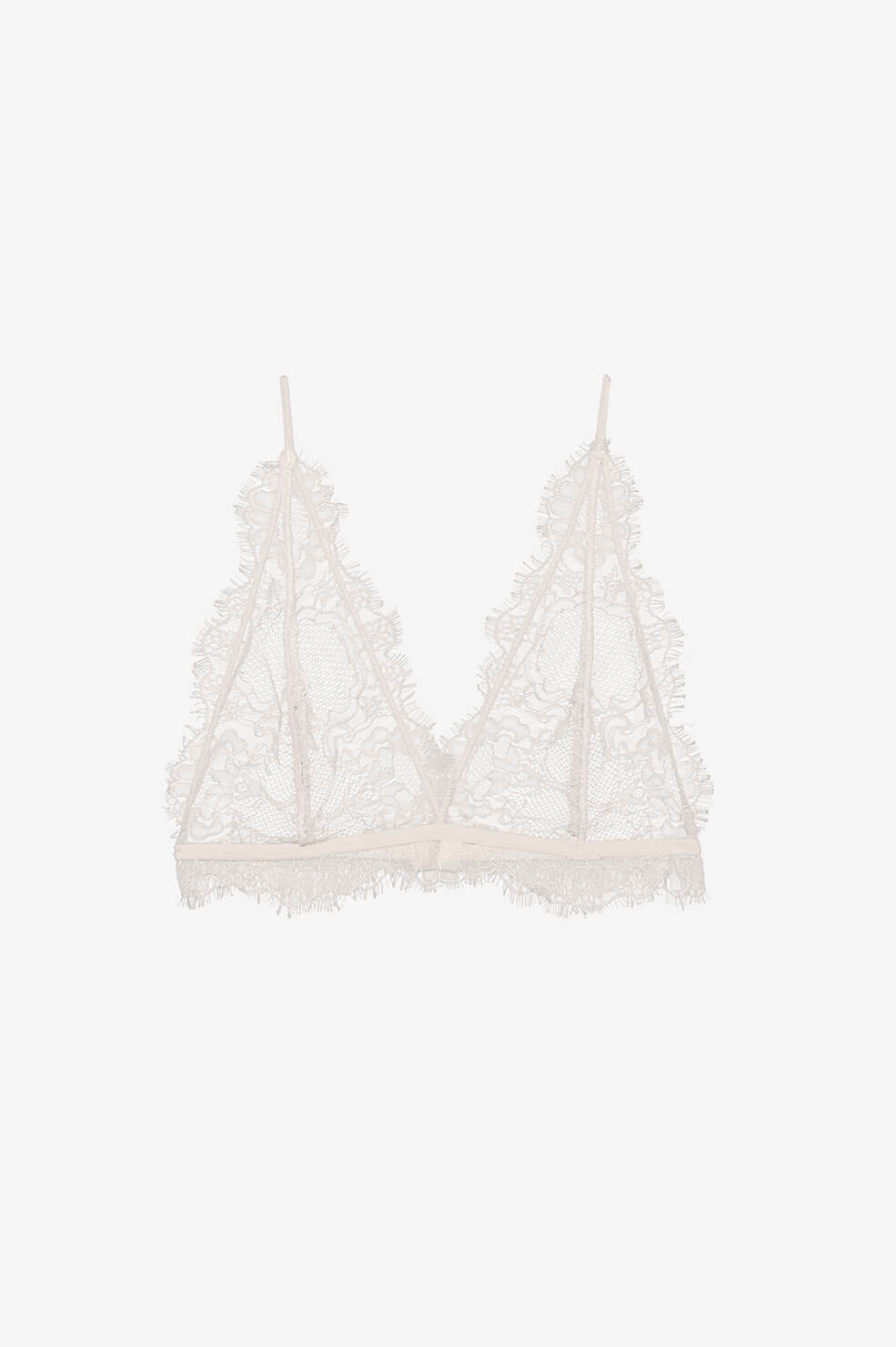 Delicate Lace Bra - Nude Pink