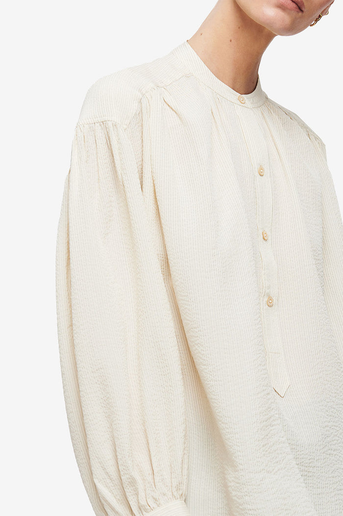 ANINE BING Eden Shirt - Cream and Black Stripe