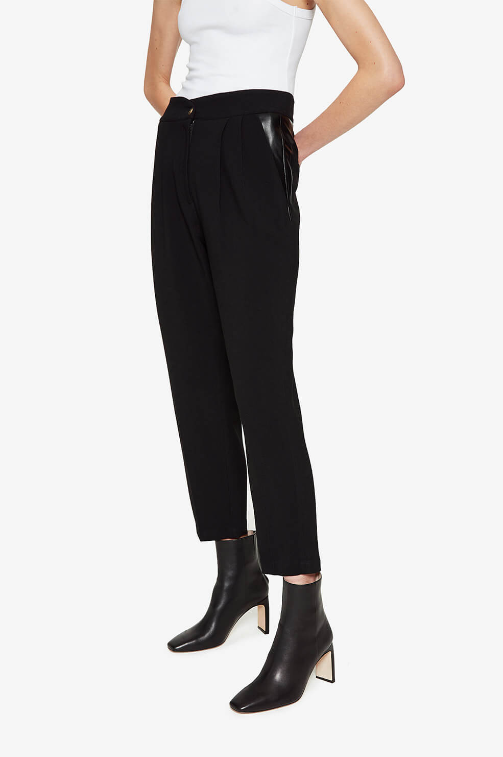 ANINE BING Eleanor Trouser - Black