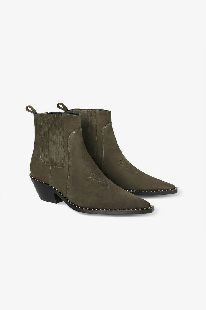 ANINE BING Harris Boot - Olive Green
