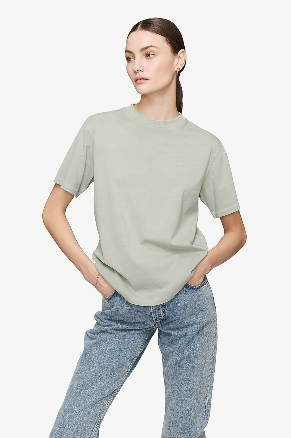 Hudson Tee - Dusty Mint