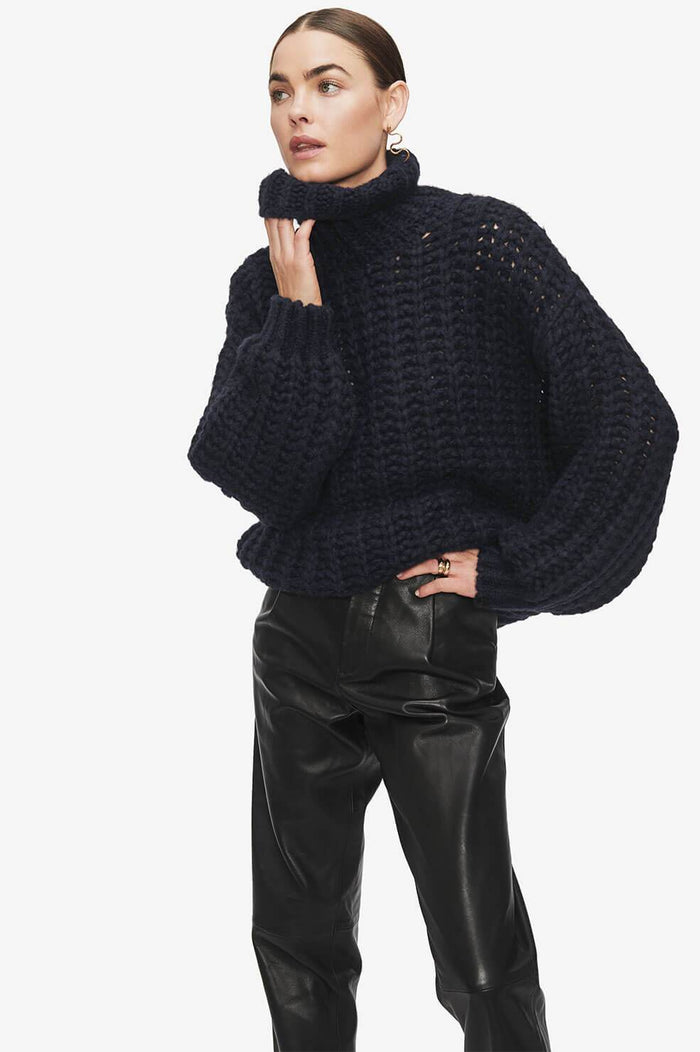 ANINE BING Iris Sweater - Navy