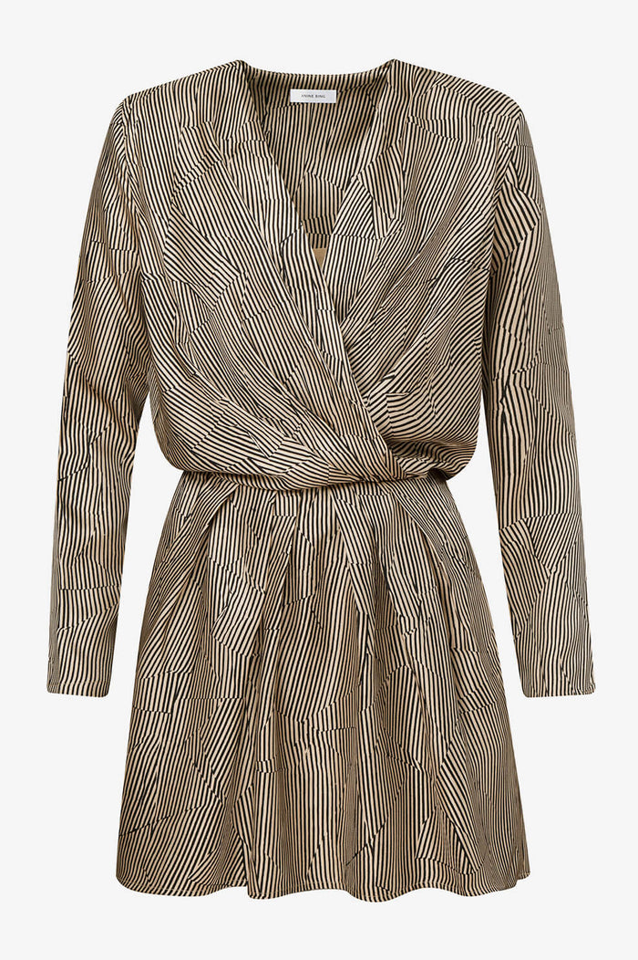 ANINE BING Kate Dress - Crinkle Stripe
