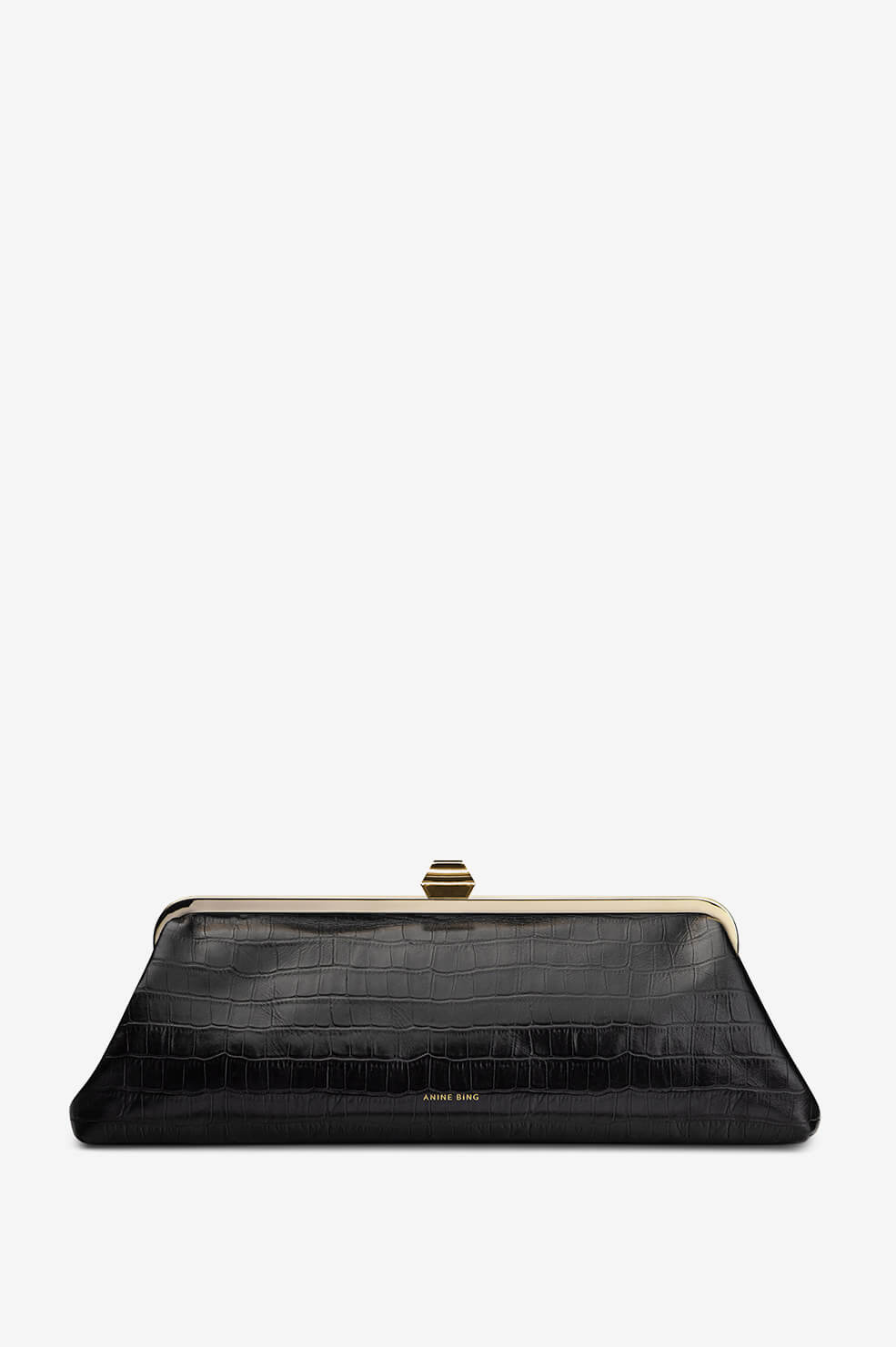Kiara Clutch - Black Croco