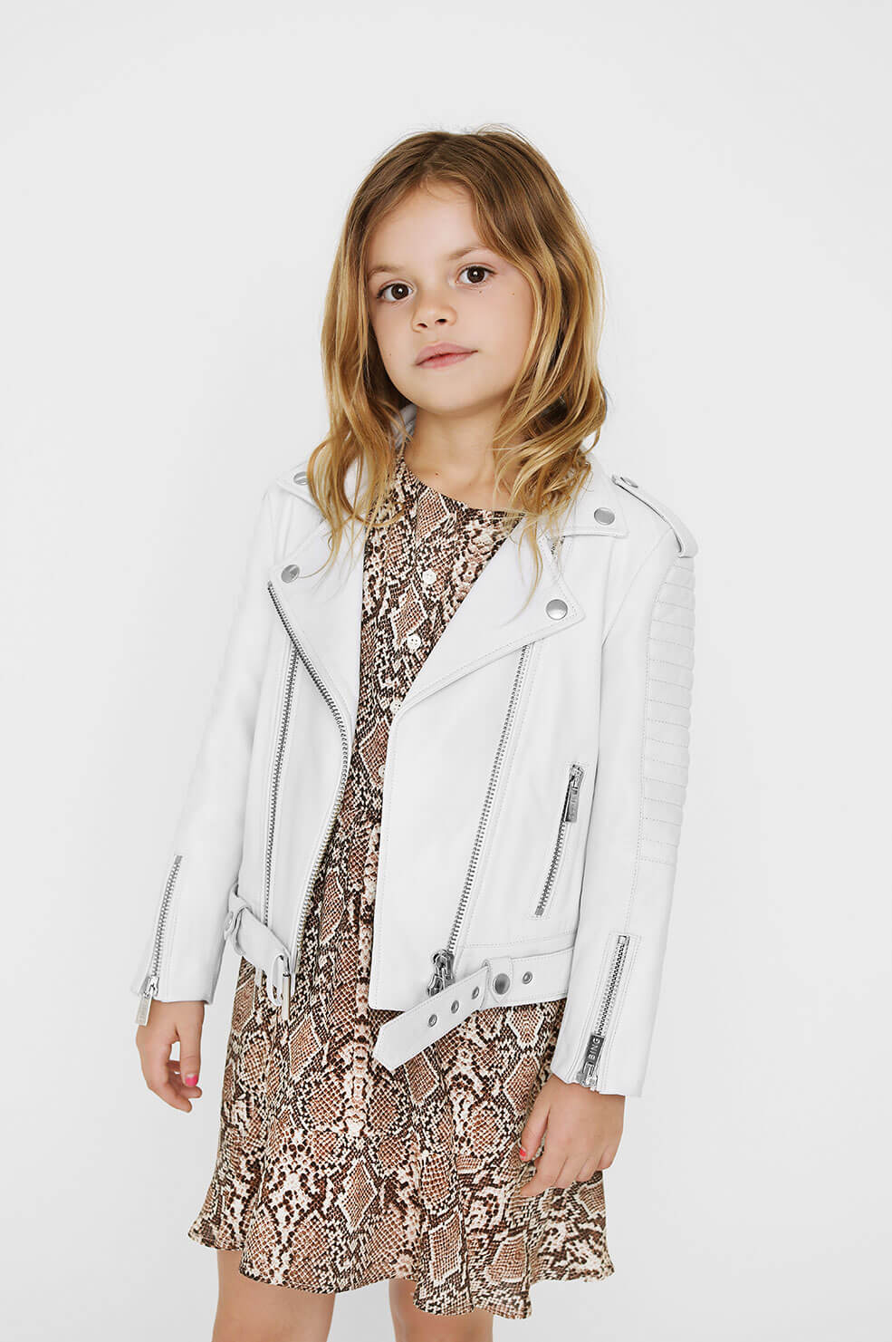 ANINE BING Mini Cassidy Leather Jacket - White