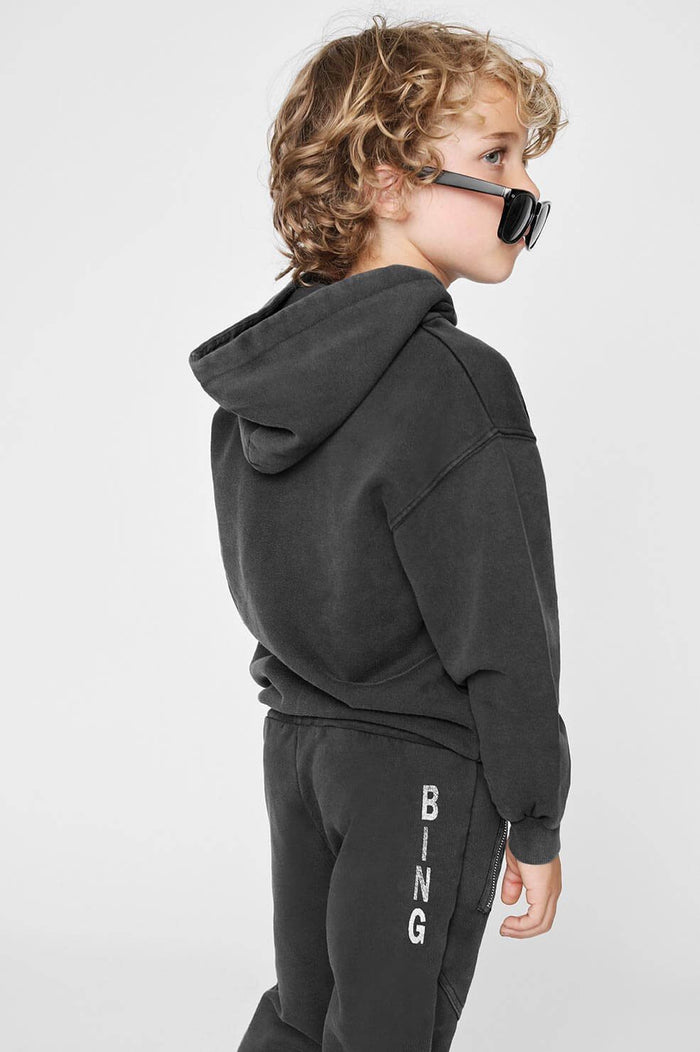 ANINE BING Mini LA Eagle Hoodie - Black