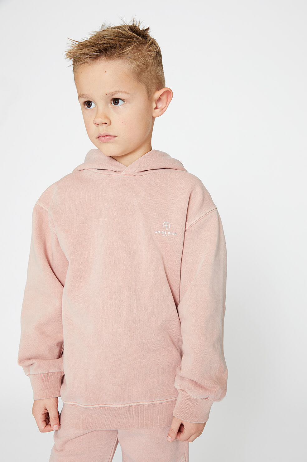 Mini Rowe Hoodie - Washed Pink