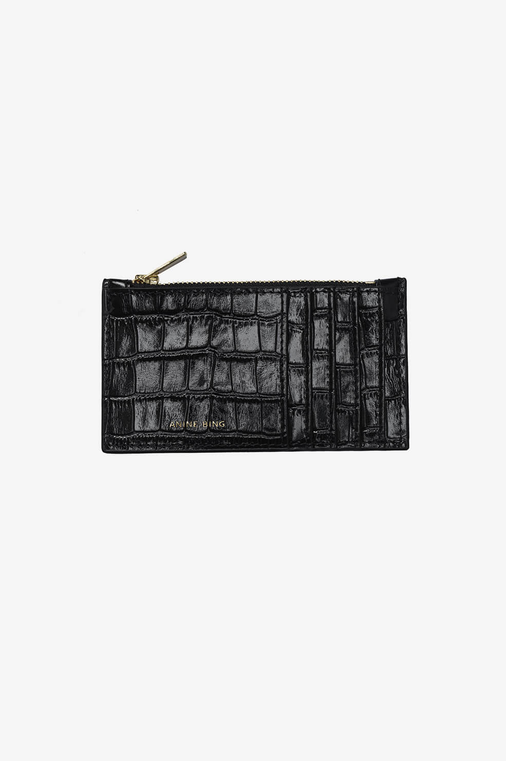 Luca Card Holder - Black Croco