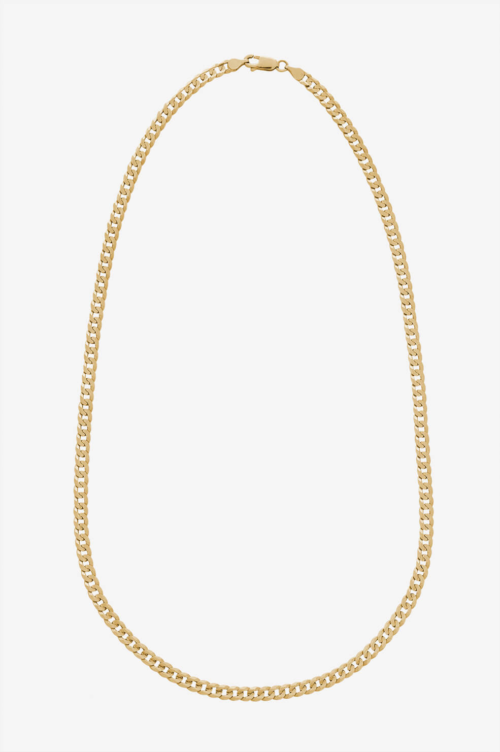 Curb Chain Necklace - Gold