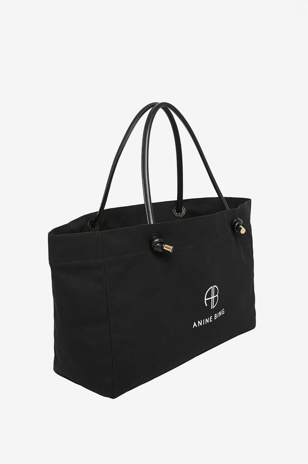ANINE BING Medium Saffron Tote - Black