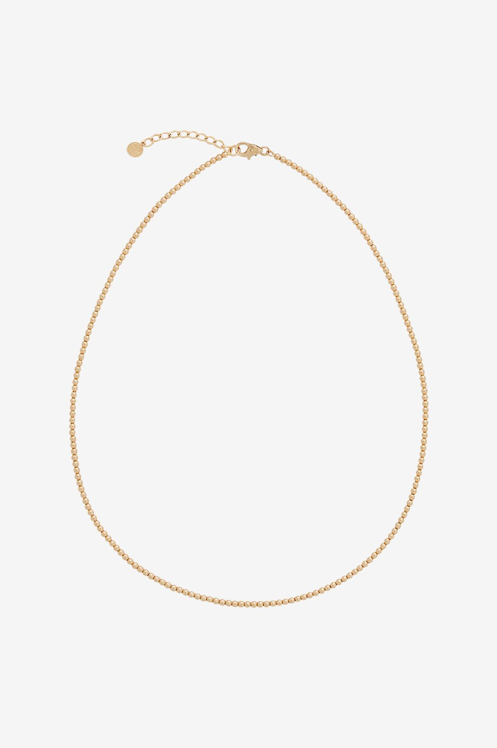 Mini Beaded Necklace - Gold