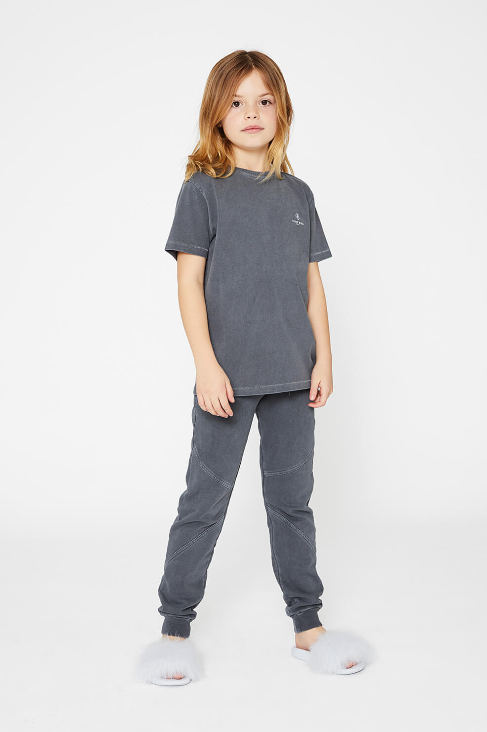 ANINE BING KIDS Mini Lili Tee - Washed Indigo