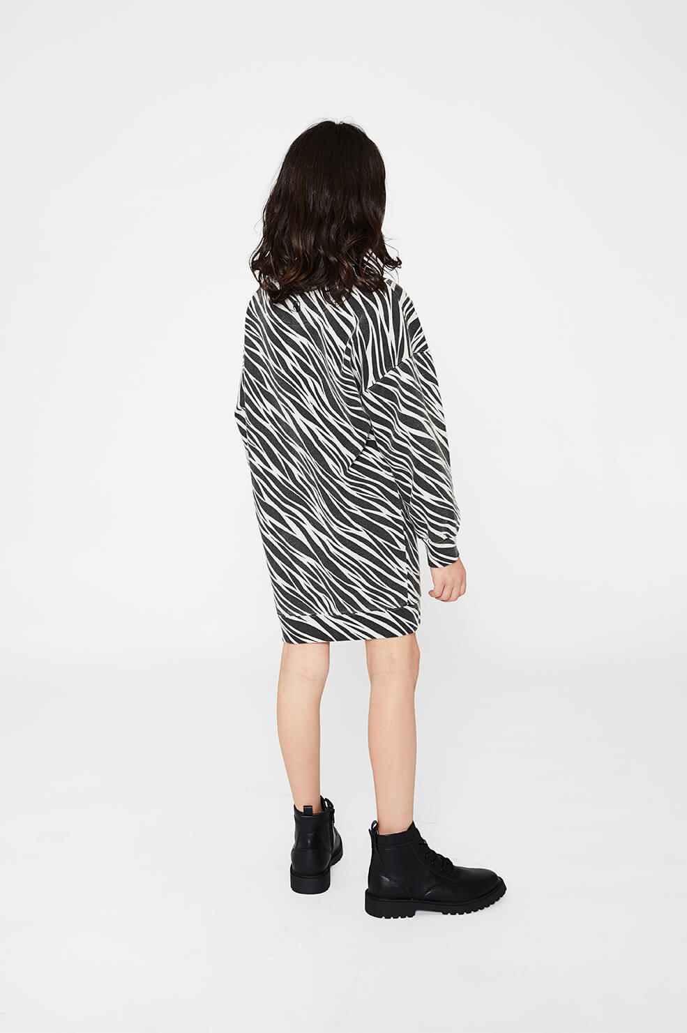 ANINE BING KIDS Mini Lucy Dress - Cream Zebra