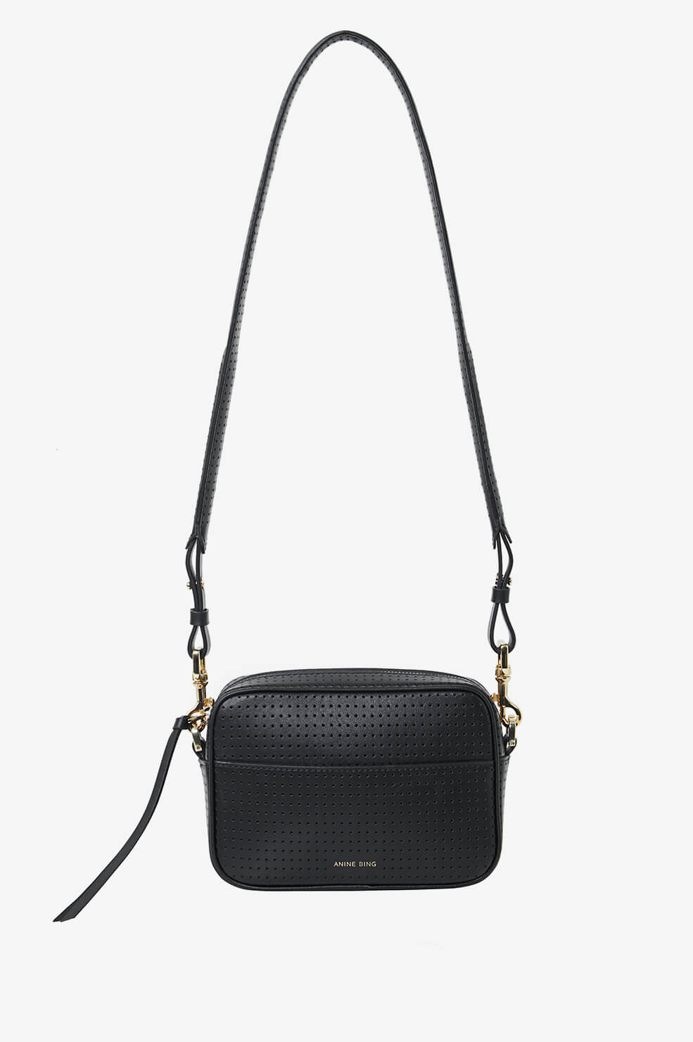 Mini Alice Bag - Perforated Black